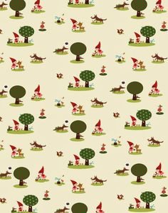 Little red riding hood fabric design from Christelle LARDENOIS