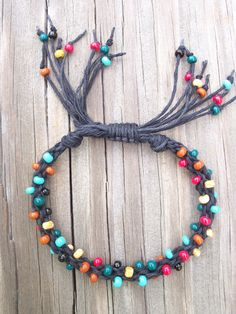 Kumihimo Braided Hemp and Bead Bracelet