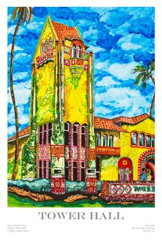 "Recently I painted a watercolor on yupo of Tower Hall at San Jose State University - my alma mater. I'm happy to say that the art prints of ""Tower Hall"" have been very popular. For more information about purchasing ""Tower Hall"" go to my my website www.djcovey.com."