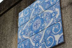 Portuguese Tile Pattern Street Art - Portuguese Artist Creates Street Art Inspired by Traditional Portuguese Tilework