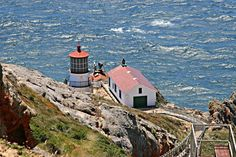 """Point Reyes Lighthouse - Point Reyes, California  Been there 2 times and walked those 303 steps down and back up both times! John Carpenter also filmed parts of the orginal, """"The Fog"""" movie here..."""