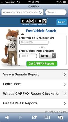 43 Best Show me the CARFAX! images in 2012 | Cars, Used cars