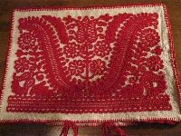 Superbly hand embroidered Hungarian pillow cover / cushion originated from Western Transylvania / Kalotaszeg region .  Available at www.greatblouses.com Embroidery Map, Chain Stitch Embroidery, Hungarian Embroidery, Learn Embroidery, Embroidery Patterns, Craft Patterns, Fabric Patterns, Stitch Head, Vintage Jewelry Crafts