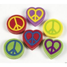 Peace Sign Erasers dz) Back to School Supplies for Students and Teachers Peace Sign Birthday, Hippie Birthday Party, Birthday Party Favors, Classroom Prizes, Classroom Themes, Best Teacher Gifts, Fun Express, Hippie Peace, School Fun