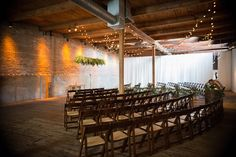 Wedding ceremony decor by Studio AG at Gallery 1028. Photo by First Blush Photos http://firstblushphotos.com/