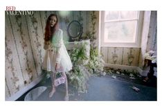 Natalie Westling by Tim Walker for Valentino Red Label S/S 2014 🌿💐🌿