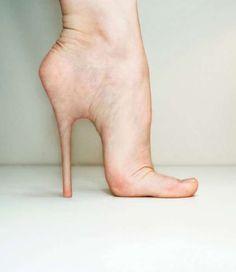 Shocking Stiletto Implants - Bit Rebels conceptualize the Idea of Human Body Stilettos on Your Feet