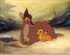 *BAMBI and his MOTHER ~ Bambi , 1942 .Young Bambi: What happened, Mother? Bambi's Mother: Man was in the forest. Bambi Disney, Walt Disney, Disney And Dreamworks, Disney Love, Disney Magic, Disney Art, Disney Pixar, Disney Movies To Watch, Disney Films
