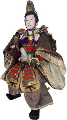 samurai warrior lord, Japanese antique doll, 1920s