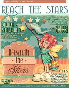 Reach the Stars - Digital Stamp
