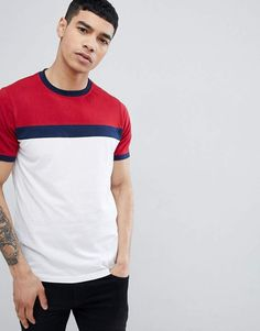 Browse online for the newest Another Influence Contrast Panel T-Shirt styles. Shop easier with ASOS' multiple payments and return options (Ts&Cs apply). Camisa Polo, Buy T Shirts Online, Rock Style Men, Man Dressing Style, African Men Fashion, Mens Fashion Suits, Polo T Shirts, Casual Shirts, Men Casual