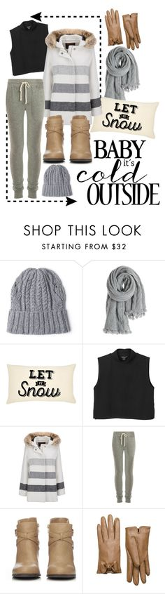 """""""In the cold"""" by teennetwork ❤ liked on Polyvore featuring Calypso St. Barth, Monki, Woolrich, James Perse, Wallis and Kate Spade"""
