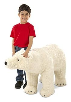 153fc3d0c7d Melissa  amp  Doug Giant Polar Bear - Lifelike Stuffed Animal... https