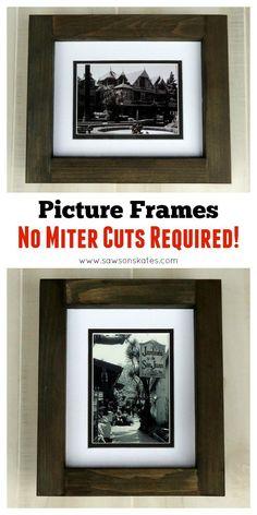 Diy engineer print frame radical fart smells pinterest diy no miter cut picture frame solutioingenieria Choice Image