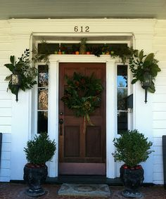 21 Best Winter Front Door Entrys Images On Pinterest Doors