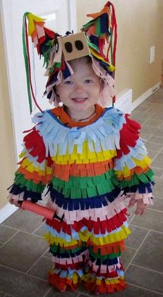 Homemade paper joker shape Dress design for Boy kids