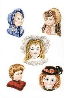 Three Antique Dolls paper dolls by Brenda Sneathen Mattox - Nena bonecas de papel - Picasa Web Albums