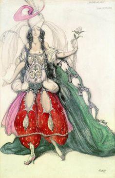 Leon Bakst - Costume Design For Scheherazade - art prints and posters