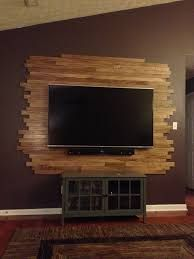 Wood TV wall mount ideas for living room, wonderful place of television, ni -. Wood TV wall mount ideas for living room, wonderful place of watching TV, ni – Sou Modern Tv Wall, Modern Decor, Modern Design, Pallet Tv, Wood Pallets, Diy Pallet, Deco Tv, Tv Wanddekor, Decoration Palette