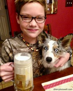 Butterbeer and dog