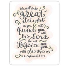 Pretty modern light white, pink design, scripture bible verse ...