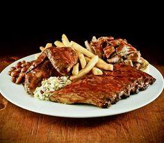Hard Rock Cafe Hickory-Smoked Bar-B-Que Combo. #yumm #hardrock