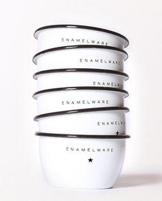 Enamelware Steel Bowls.