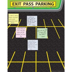 Exit Pass Parking Poster  Look forward to making my own variation for intervention groups.