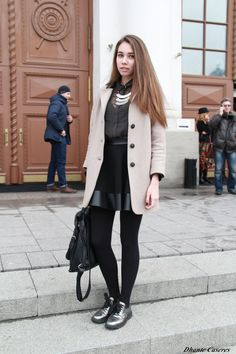 I could get away with this… Street Style / Mercedes-Benz Fashion Week Russia 2013.