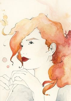 water color and ink Untitled, by Vivienne Strauss grunge chic watercolor fashion illustrations Watercolor Portraits, Watercolor Paintings, Watercolors, Watercolor Water, Art Amour, Art Et Illustration, Inspiration Art, Portrait Inspiration, Art Design