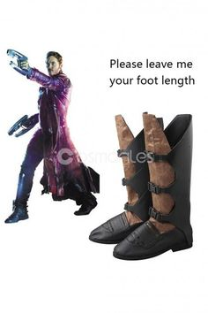 New Guardians of the Galaxy Star Lord Peter Jason Quill Cosplay Boots Shoes MM.0