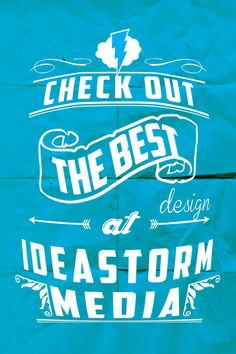 Fun typography from Ideastorm