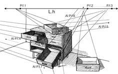 Resultado de imagen para perspectiva dos puntos de fuga
