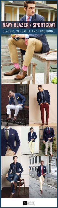 Whatever the occasion may be, a well-tailored navy blue blazer will never disappoint!