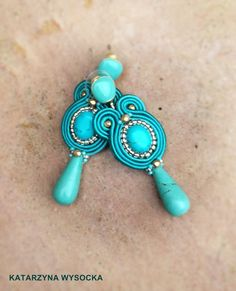 'Lagoon' soutache earrings by MagiaSoutache on DeviantArt