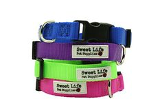 Dog Collar Durable Woven Nylon Basic Utility Classic Medium Purple Collar by Sweet Life Pet Supplies matching leash available sold separately -- You can get additional details at the image link.Note:It is affiliate link to Amazon.