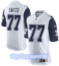 Low Price Nike Cowboys #77 Tyron Smith White Men's Stitched NFL Limited Rush Jersey