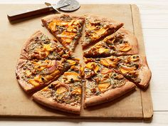 Butternut Squash and Gorgonzola Pizza recipe from Ellie Krieger via Food Network