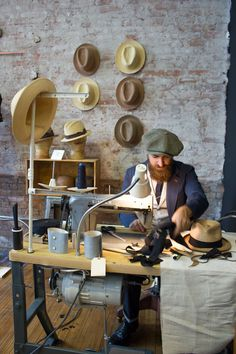 Matteo Gioli at work, Super Duper Hats