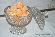 Carrot and Coconut Truffles Coconut Truffles, Carrot Cake, Cooking Time, Punch Bowls, Carrots, Gluten Free, Sweets, Chocolates, 1