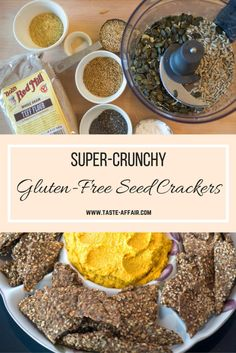 Super-Crunchy Gluten-Free Seed Crackers. An unbelievably easy, addictive cracker recipe that everyone adores. www.taste-affair.com