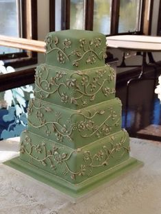 An elegant wedding cakes is a symbol of love that light and fragile.