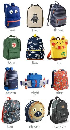 Jenzys Boys Fox Mini Toddler Backpack Bag For Preschool or Kindergarden