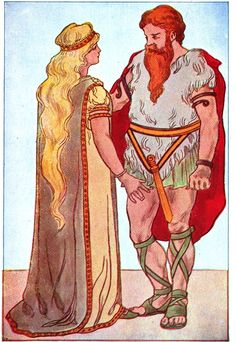 Sif and Thor///L. F. Perkins' Illustrations for A Primary Reader (1895)