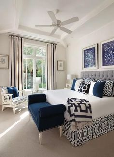 17 Hermoso color azul Diseño de dormitorio neutral blue bedroom, dark b . - 17 Hermoso diseño de dormitorio de color azul neutral blue bedroom, dark b … 17 Herm - Master Bedroom Interior, Home Decor Bedroom, Modern Bedroom, Navy Home Decor, Trendy Bedroom, Coastal Decor, Master Bedroom Chairs, Costal Bedroom, Navy Master Bedroom
