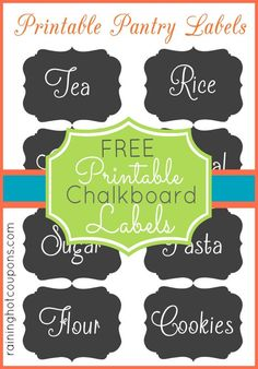 FREE Chalkboard Jar Label Printables!: