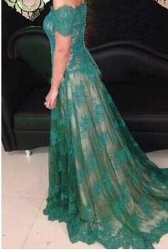 Long Green Lace Off-the-Shoulder Prom Dresses Party Evening Gowns 3020498 Cheap Short Prom Dresses, Prom Dresses Long With Sleeves, Unique Prom Dresses, Black Prom Dresses, Prom Dresses Online, Prom Party Dresses, Strapless Dress Formal, Bride Dresses, Affordable Formal Dresses