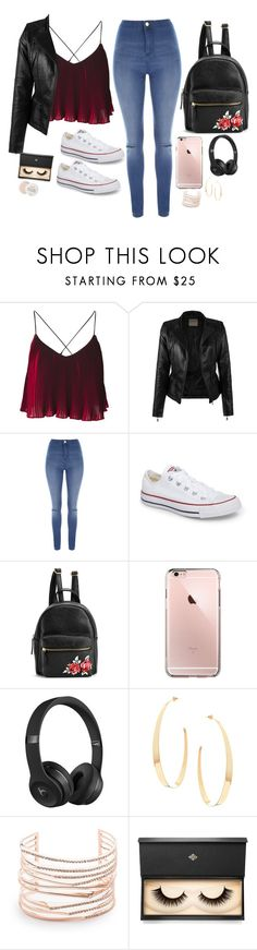 """Untitled #704"" by pixienathalie ❤ liked on Polyvore featuring Jane Norman, Converse, Beats by Dr. Dre, Lana, Alexis Bittar, Lash Star Beauty and Fresh"
