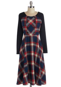 Fetching by the Fire Dress. Happily unwinding hearthside, youre as captivating as you are cozy in this delightful dress! #multi #modcloth