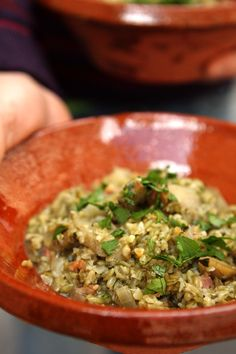 Freekeh-Artichoke risotto | David Lebovitz